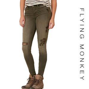 Flying Monkey Low Rise Stretch Skinny Jean Size 27